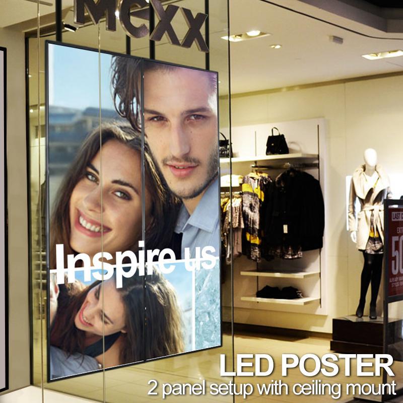 PST - led poster example 2 panel setup